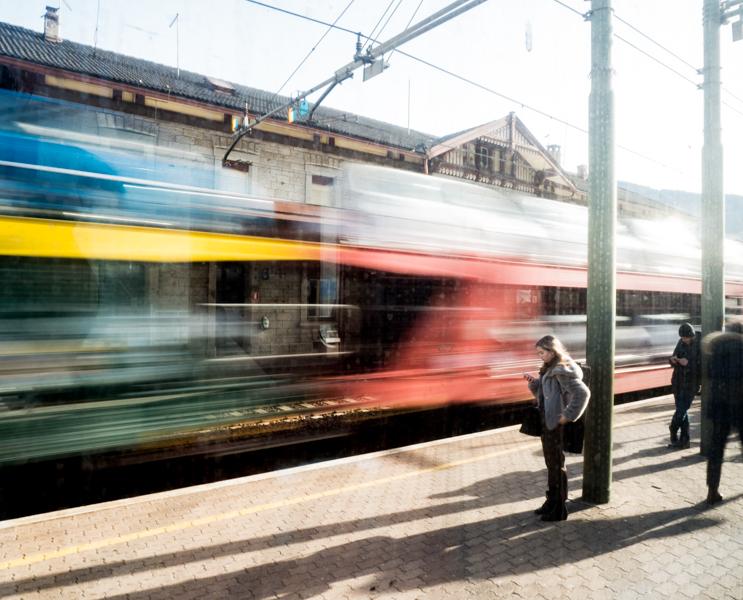 Met de trein gaan skiën © Claudia Zanin
